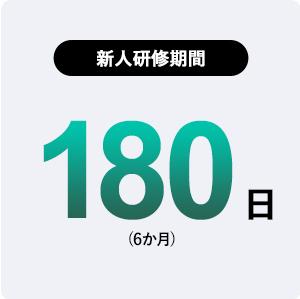 新人研修期間:180日(6か月)